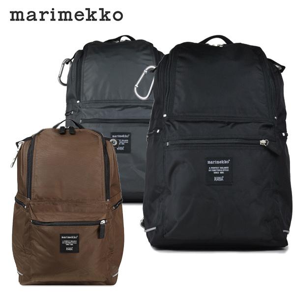 marimekko BUDDY リュックサック メンズ/レディース ブラック/グレー 026994