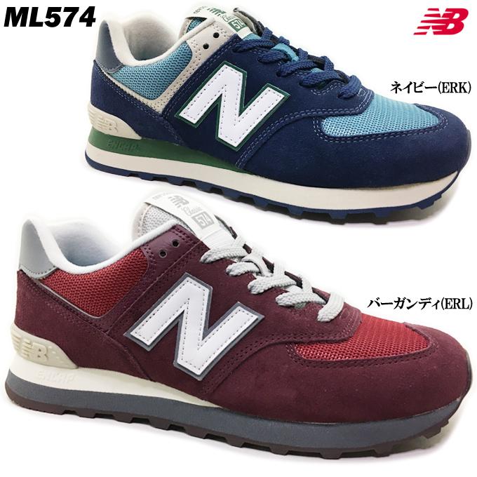 new balance ML574 ERL/ERK ニューバランス ユニセックス メンズ レディース スニーカー 靴 シューズ タウン カジュアル 男女兼用 学生 バーガンディ ネイビー BURGUNDY NAVY