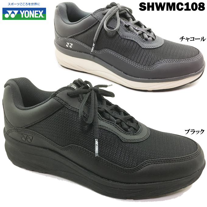 YONEX/ヨネックス パワークッション SHWMC108 メンズ ウォーキングシューズ コンフォートシューズ 靴 メッシュ ファスナー レースアップ 幅広 3.5E 軽量 快適 歩きやすい 脱ぎやすい 履きやすい 散歩 旅行 男性 紳士