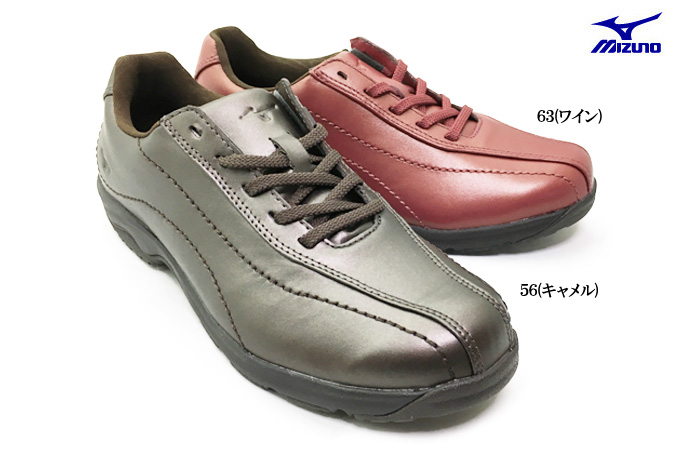 MIZUNO ミズノ LD40IV B1GD1617レディース ウォーキング コンフォート シューズ 靴 幅広 3E 天然皮革 本革 散歩 旅行 トラベル 女性 婦人