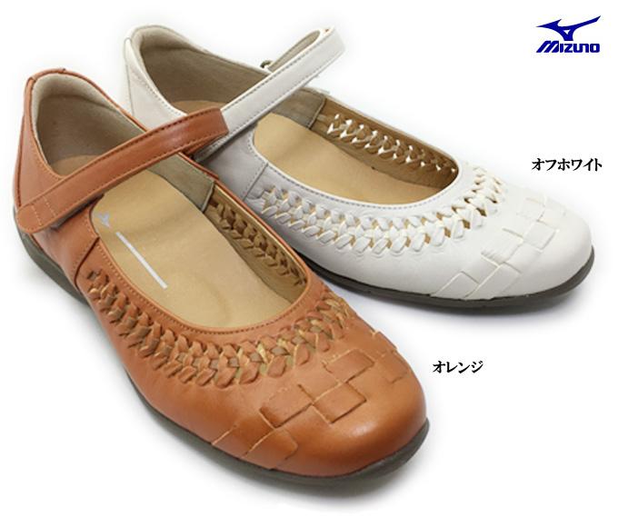 ミズノ セレクト 720 B1GH1765MIZUNO SELECT レディース シューズ 靴 ウォーキング パンプス カジュアル ベルクロ ストラップ 面ファスナー 天然皮革 本革 クッション性 女性 婦人