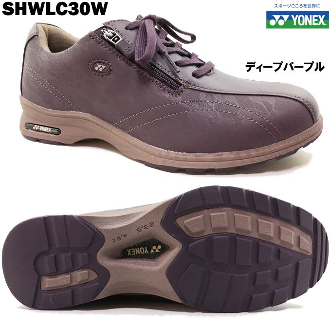YONEX/ヨネックス パワークッション SHW LC30W ディープパープル レディース ウォーキングシューズ コンフォートシューズ ワイドタイプ 幅広 4.5E ゆったり設計 軽量 快適 歩きやすい 脱ぎやすい 履きやすい 散歩 旅行 女性 婦人