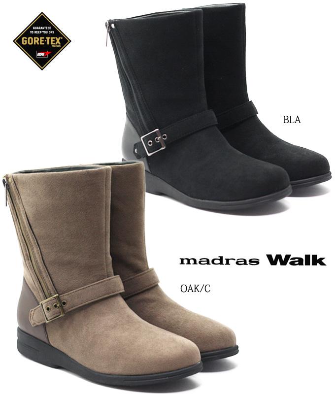 madras Walk MWL2052 マドラスウォーク レディース ブーツ ゴアテックス 完全防水 防滑ソール 超軽量 ななめジッパー 女性 婦人