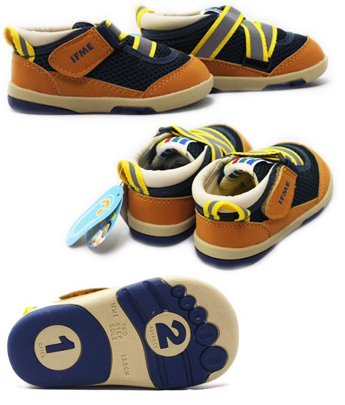 IFME BABY 22-4700如果我婴儿婴幼鞋婴儿鞋婴儿幼儿功能性进洞鞋底男人的子女的孩子