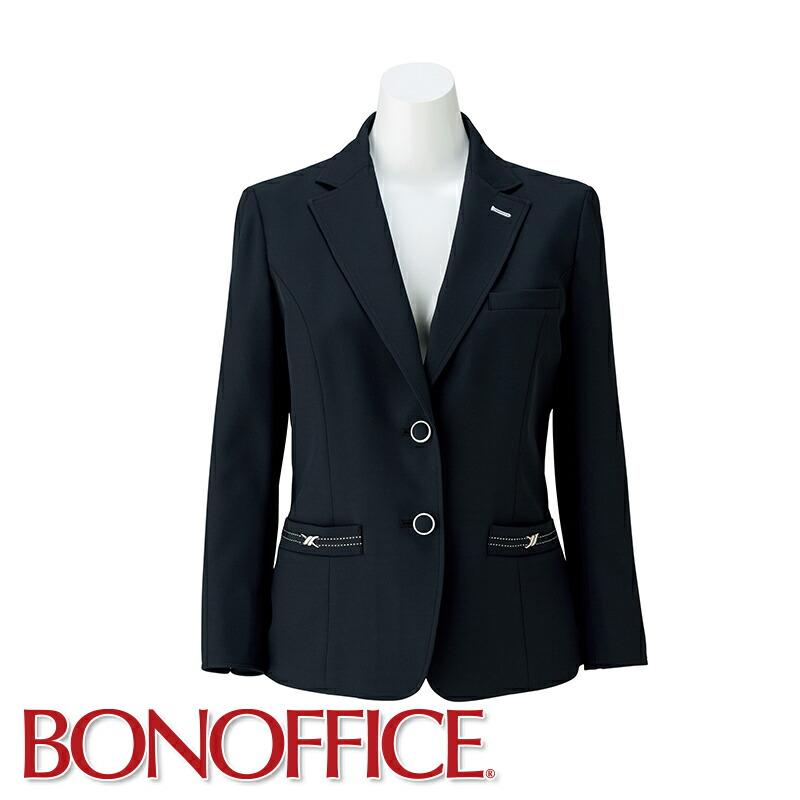 オフィスからおもてなしまでマルチに活躍 事務服 希少 ジャケット LJ0763BONOFFICE ボンオフィス BONMAX ボンマックス 美品 受付 制服 フォーマル ユニフォーム