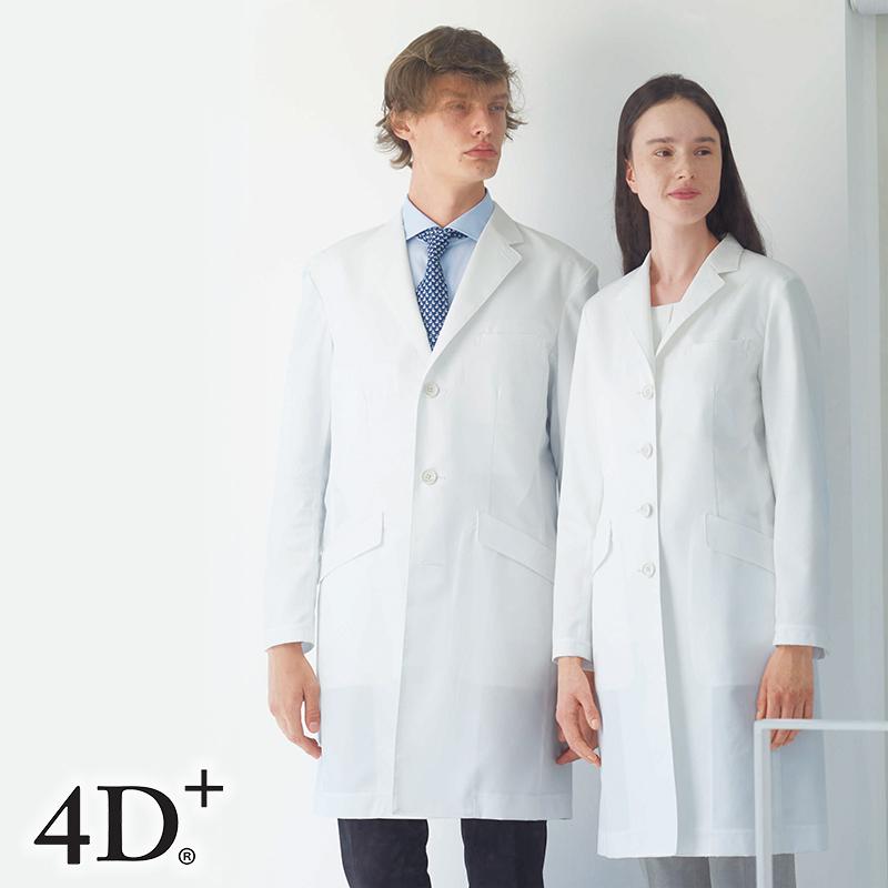 ナースウェア シングル診察衣 (Y体) [男性用] FD-40004D+ フォーディープラス Naway ナウェイ Seed℃ シードシー NAGAILEBEN ナガイレーベン メンズ ドクターウェア 医療 白衣 ユニフォーム