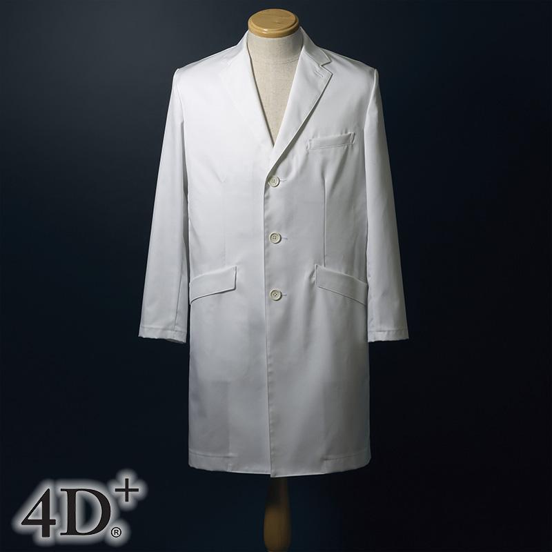 シングルドクターコート(AB体) [男性用] FD-4020 全1色4D+ フォーディープラス Naway ナウェイ Seed℃ シードシー NAGAILEBEN ナガイレーベン 医療白衣 ユニフォーム 制服