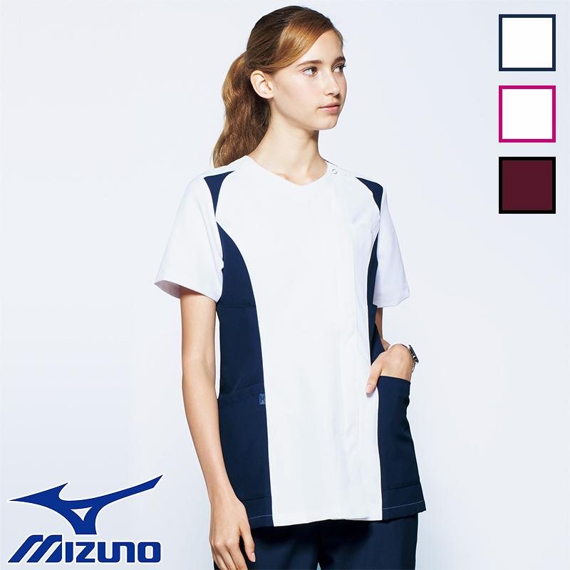 ナースウェア スクラブ MZ-0112 全3色 レディース 女性用 mizuno ミズノ unite ユナイト 医療白衣 看護師 クリニック ユニフォーム