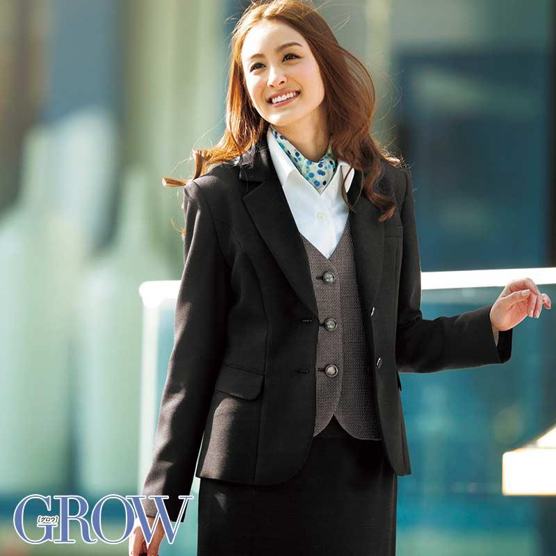 オフィスレディに最適 人気のオフィスウェア ジャケット 事務服 GJAL-1353-B9 フォーマル 事務員 受付 ウェア GROW サーヴォ SerVo 制服 オフィス グロウ 大決算セール 着後レビューで 送料無料