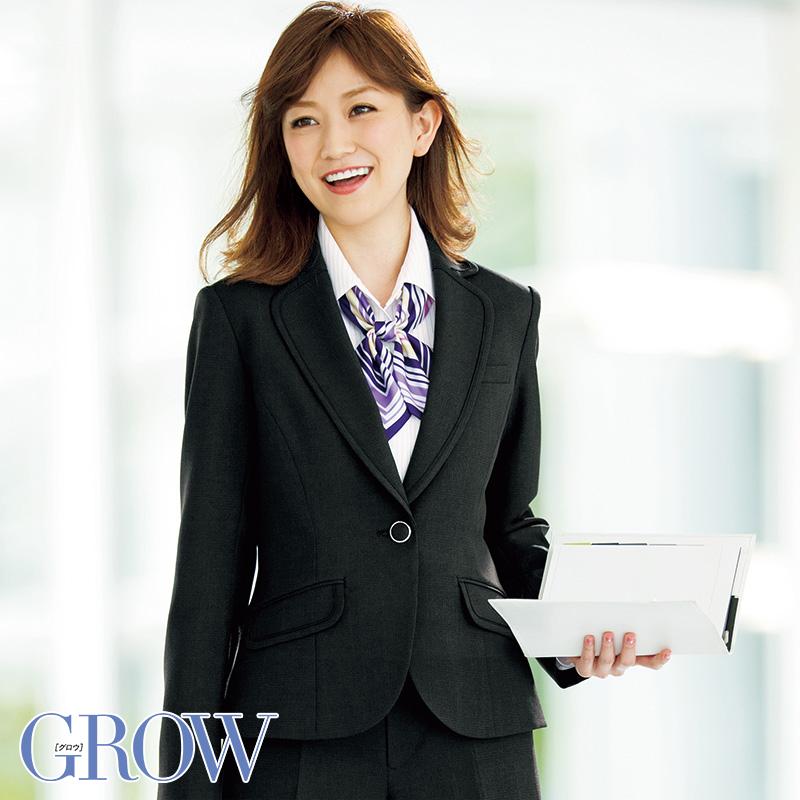 オフィスレディに最適 人気のオフィスウェア SALENEW大人気! ジャケット 事務服 GJAL-1354 フォーマル 事務員 物品 受付 ウェア オフィス 制服 グロウ サーヴォ SerVo GROW
