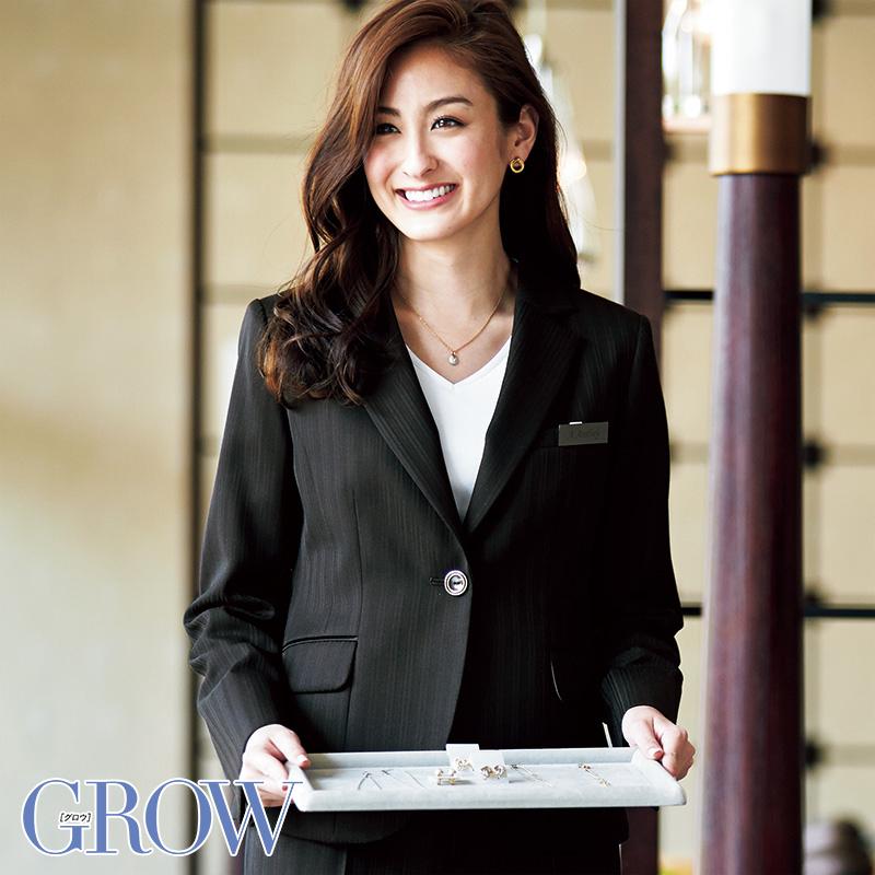オフィスレディに最適 人気のオフィスウェア ラッピング無料 ジャケット 事務服 GJAL-1453 フォーマル 事務員 受付 サーヴォ グロウ GROW 制服 おすすめ特集 オフィス ウェア SerVo
