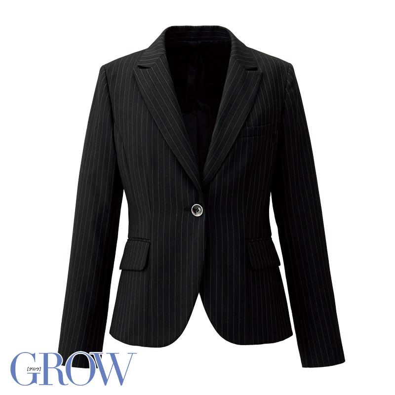オフィスレディに最適 人気のオフィスウェア 最新アイテム ジャケット 事務服 GJAL-1454 フォーマル 事務員 受付 使い勝手の良い ウェア サーヴォ オフィス 制服 GROW SerVo グロウ