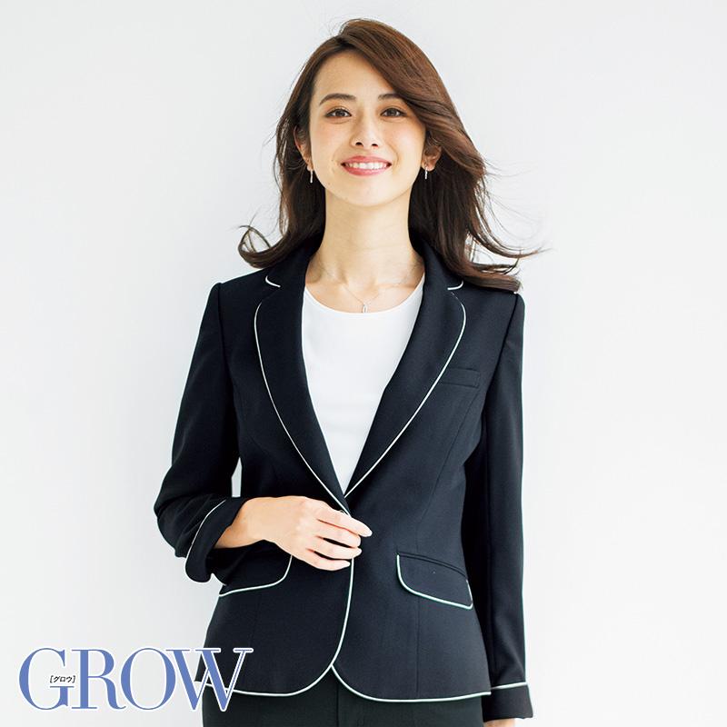 オフィスレディに最適 人気のオフィスウェア ジャケット 事務服 GJAL-1608 フォーマル 事務員 受付 ウェア グロウ ストアー 並行輸入品 GROW サーヴォ SerVo オフィス 制服