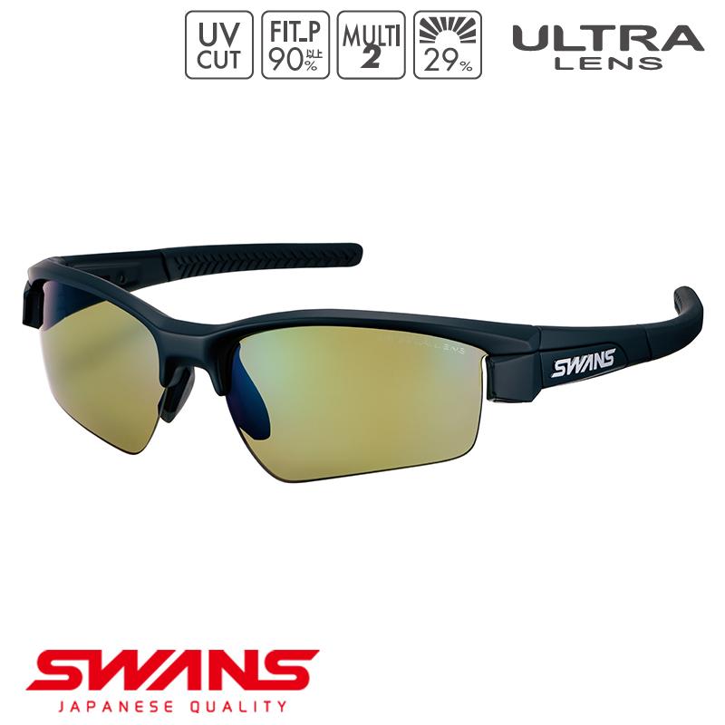 スポーツサングラス LISIN-0168 MBK SWANS スワンズ LION SIN ライオンシン ハーフリム ゴルフ 釣り スポーツ アウトドア