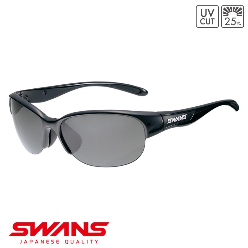 スポーツサングラス LN-0001 BK SWANS スワンズ LUNA ルナ ハーフリム ゴルフ 釣り スポーツ アウトドア