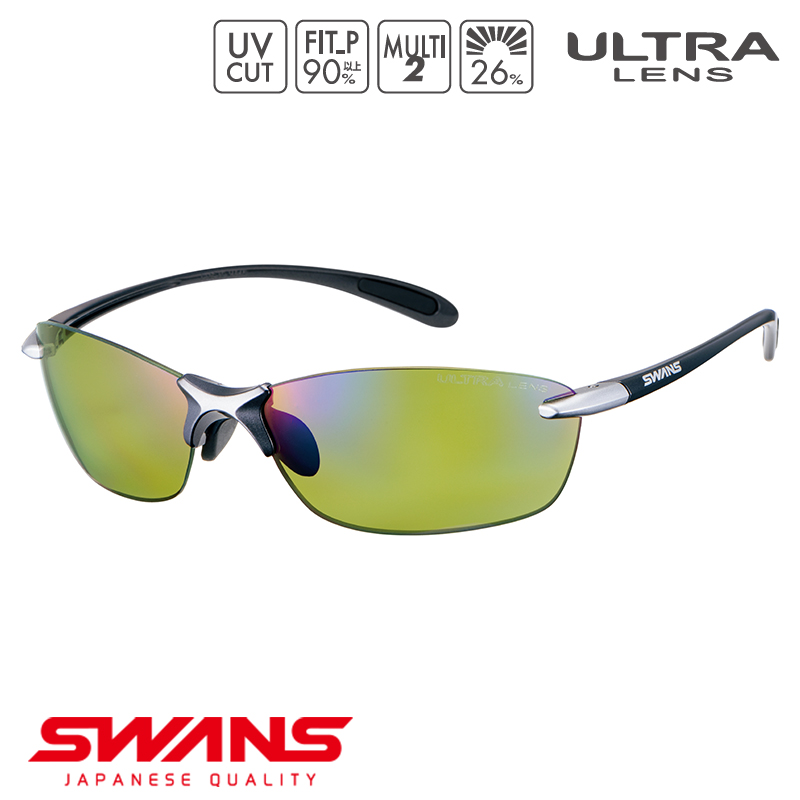 スポーツサングラス SALF-0168 GMR SWANS スワンズ Airless-Leaf fit エアレスリーフフィット フレームレス ゴルフ 釣り スポーツ アウトドア