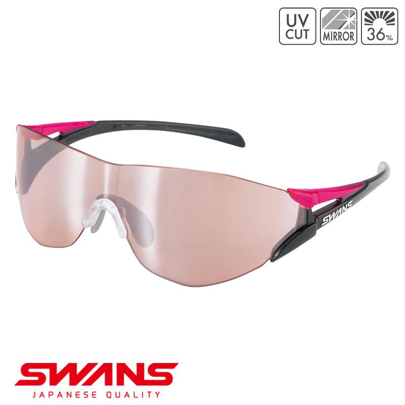 スポーツサングラス SOU2C-0709 BK/P SWANS スワンズ SOU2-C ソウ2シーフレームレス ゴルフ 釣り スポーツ アウトドア