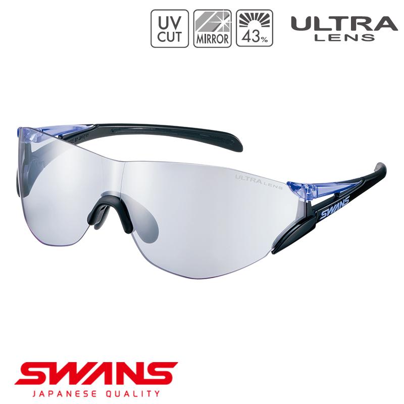 スポーツサングラス SOU2C-0715 BK/PR SWANS スワンズ SOU2-C ソウ2シーフレームレス ゴルフ 釣り スポーツ アウトドア
