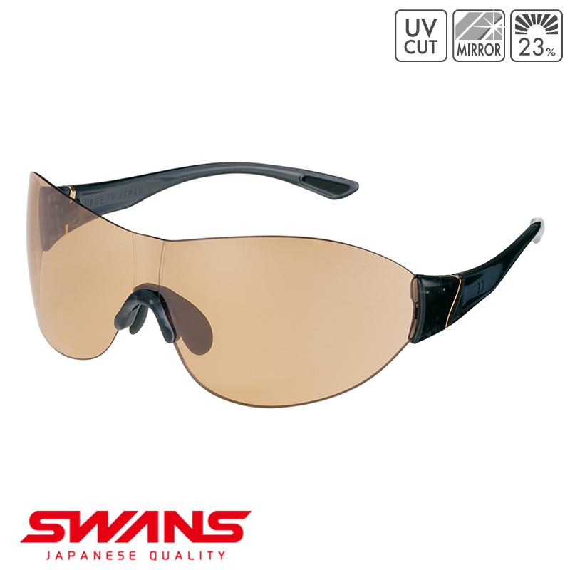 スポーツサングラス SOUF-0705 DMBR SWANS スワンズ SOU FEEL ソウフィール フレームレス ゴルフ 釣り スポーツ アウトドア
