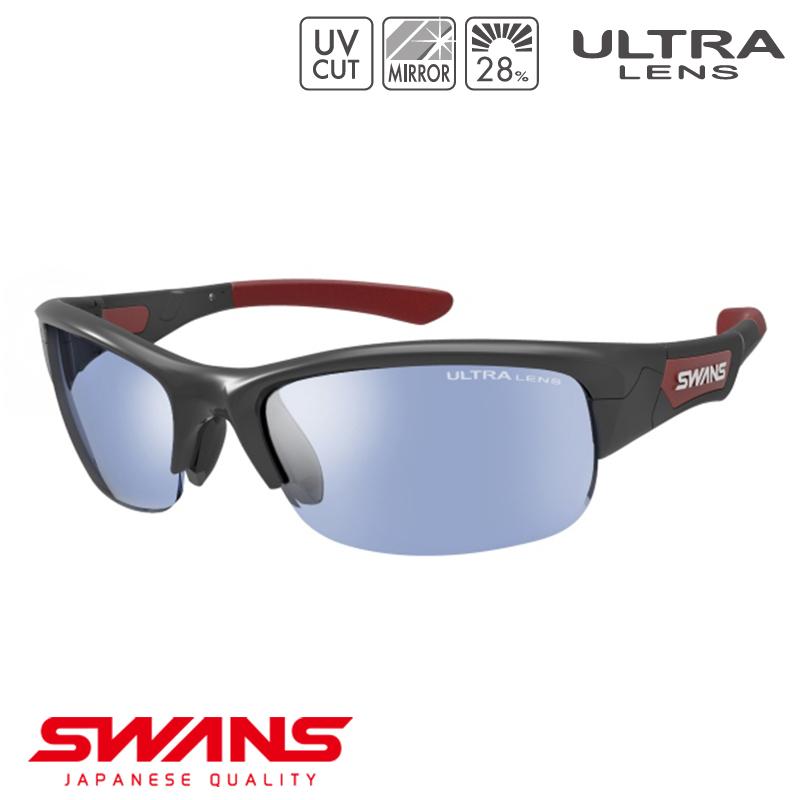 スポーツサングラス SPB-0714 BK SWANS スワンズ SPRINGBOK スプリングボック ハーフリム ゴルフ 釣り スポーツ アウトドア