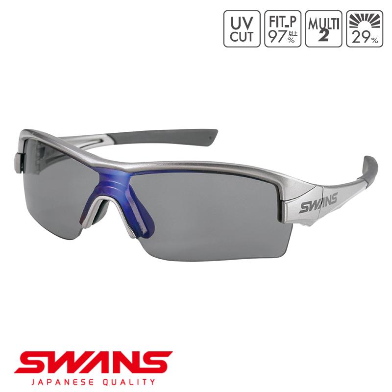 スポーツサングラス STRIXH-0151 GMR SWANS スワンズ STRIX H ストリックス・エイチ ハーフリム ゴルフ 釣り スポーツ アウトドア