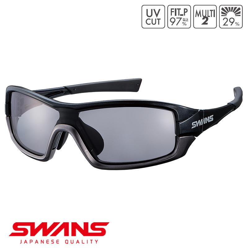 スポーツサングラス STRIXI-0151 BK/GM SWANS スワンズ スワンズ STRIX I ストリックス・アイ フルリム ゴルフ 釣り スポーツ アウトドア