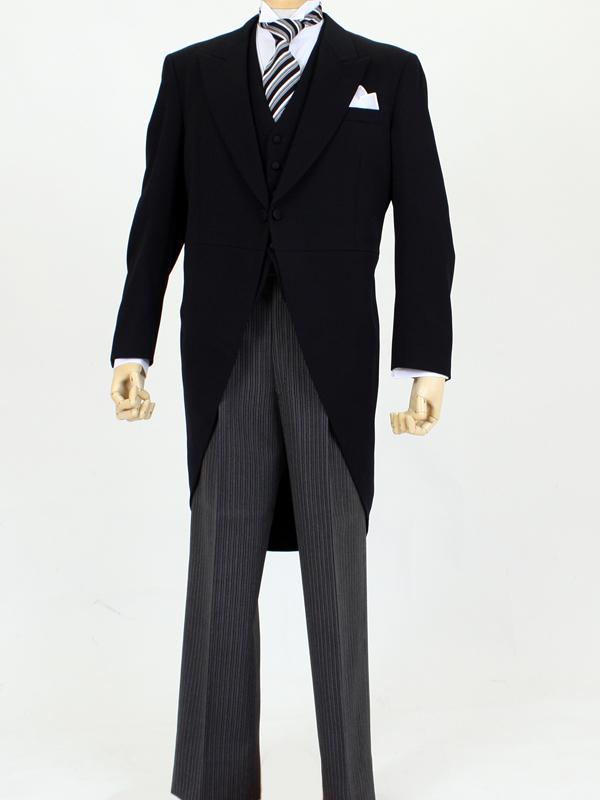 【レンタル】【モーニング レンタル 結婚式 男子】MN001 留袖セット20%割引き品(スタンダート) 貸衣装 セット もーにんぐ モーニングレンタル