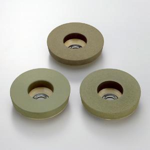 ソフトな切れ味で 無料サンプルOK 深みのあるツヤを実現 小面積の平面 曲面研磨に最適 三和研磨工業 粒度:#400 ハイクオリティ レジン砥石 外径:125mm 研磨工具 ニューラウンド