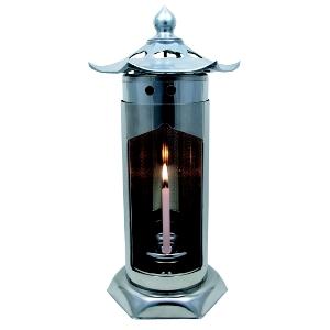 ステンレス製 お墓用灯篭/燈籠(とうろう) 入数:1対2個セット