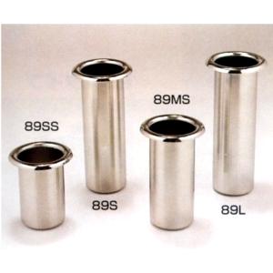 ステンレス製 お墓用花立 1対2本セット 筒径:89mm(L) 中入れ式ツバなし