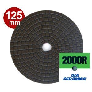三和研磨工業 ダイヤセラミカ 125mm 粒度:#2000R(レジンダイヤ) ハンドポリッシャー用 石材用 研磨砥石 ダイヤペーパー