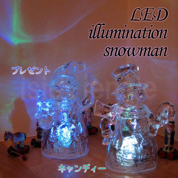 LEDイルミネーション スノーマン クリスマスに 全2種