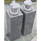お墓 花立 花筒 青御影石 お墓 花立て 一対(2本) ステンレス 花筒 高さは約33cmお墓 花立