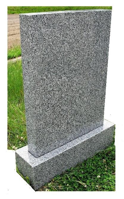 青御影石 霊標 一式(一戒名彫入れ 据え付け 運送含む)高さ75cm幅55cm奥行15cm 彫り入れ部厚さ7cm。法名碑 墓誌
