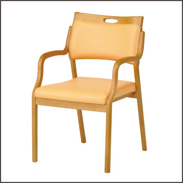 <送料無料>介護施設・高齢者向け木製スタッキングチェアCare-HAC-102安心の強度立ち上がり便利[ 介護 福祉 デイサービス 車椅子対応] 完成品 1脚入り 病院施設・介護・福祉施設・デイサービス・グループホーム