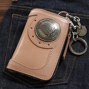 レッドムーン ウォレットREDMOON ハーフウォレット BAREBACK-01A51 L字ファスナー 51mmコンチョ サドルレザー 財布