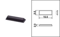 3M (スリーエム) バンポン 黒色ゴム足 (410個) [SJ-1011]