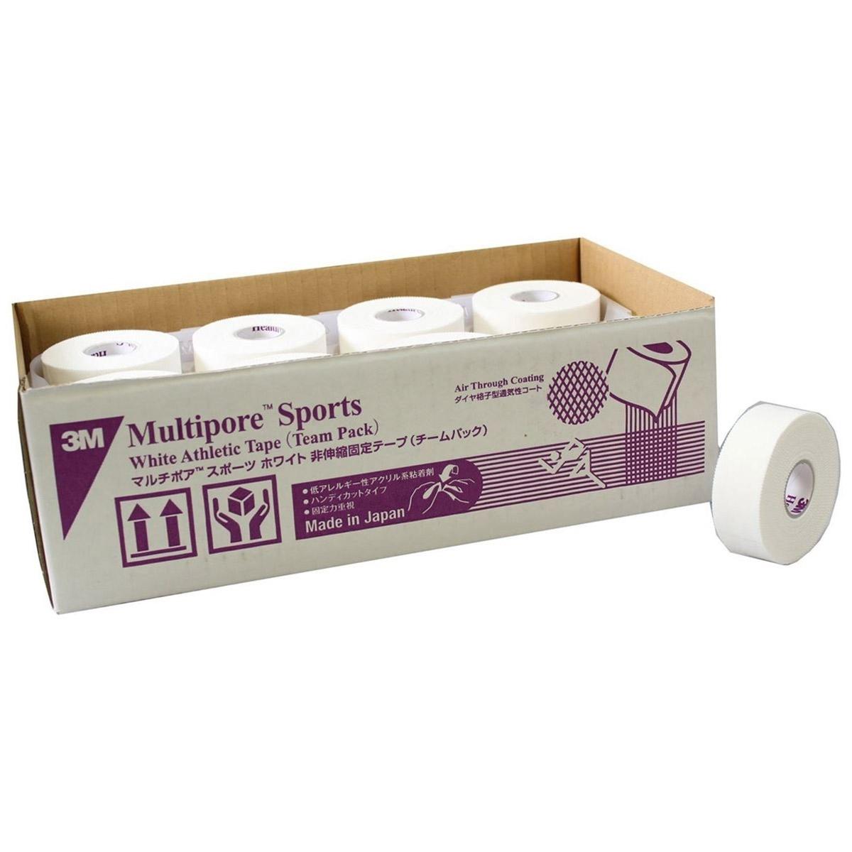 3M(スリーエム) テーピング マルチポアスポーツ ホワイト [チームパック] 25mm×12m 24巻 [2980TP-25]