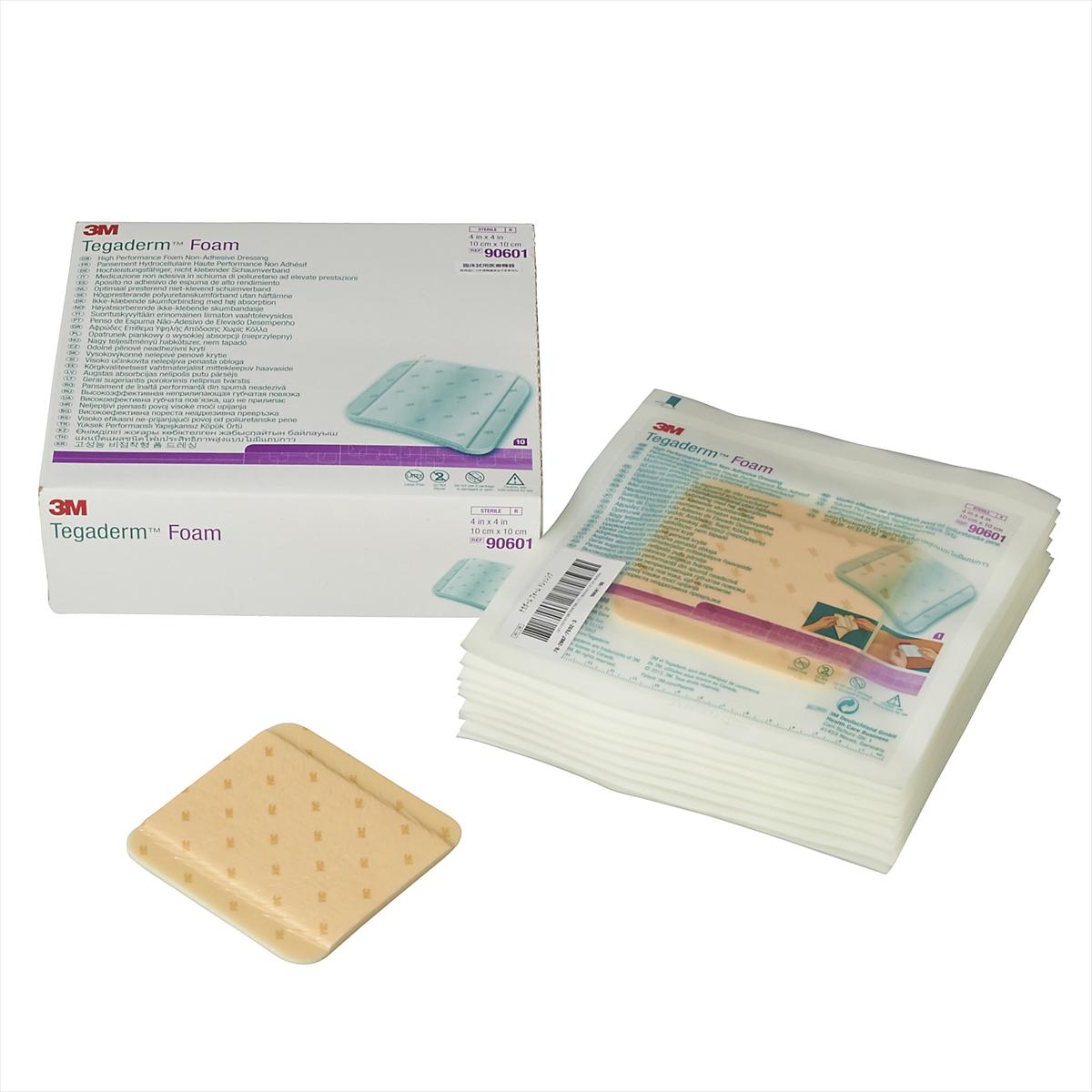 3M(スリーエム) テガダーム フォーム ドレッシング 10cm×10cm 10枚/箱 [90601] 高度管理医療機器