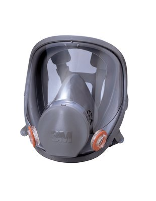 3M(スリーエム) 防毒マスク面体 (吸収缶別売) ラージサイズ [6000F L]