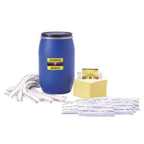 3M (スリーエム) ケミカルスピルキット ドラム入り[水・油・薬品吸収用] [JSK12080]