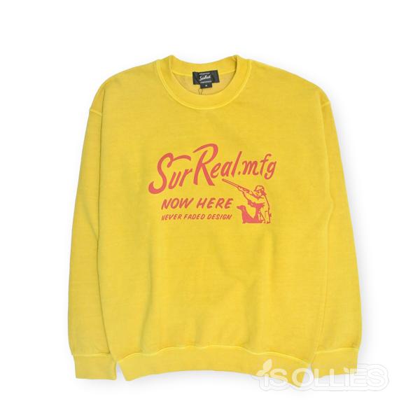 SURREAL(シュルリアル) OWENSWEAT(スウェット)(長袖)YELLOW(黄色)Mサイズ(surfing)(サーフィン)(skateboard)(スケートボード)