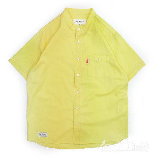 TBPR(タイトブース)BAND COLLAR SHIRT(バンドカラー)(シャツ)YELLOW(黄色)(イエロー)