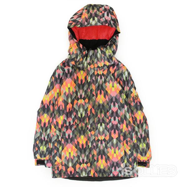 686(sixeightsix)GIRL'S FLORAINSULATED JACKETKALEIDOSCOPE(snowboard)(kids)(キッズ)(ガールズ)(子供用)(女の子用)(ジャケット)(雪)(スノーボード)(スノボ)(ウェアー)(wear)Mサイズ