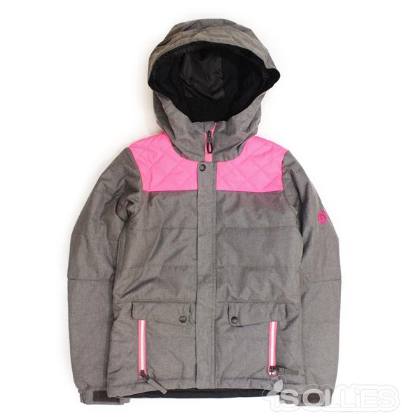 686(sixeightsix)GIRLS LILY INSL JKTCHARCOAL(チャコール)(グレー)(snowboard)(kids)(キッズ)(ガールズ)(子供用)(女の子用)(ジャケット)(雪)(スノーボード)(スノボ)(ウェアー)(wear)