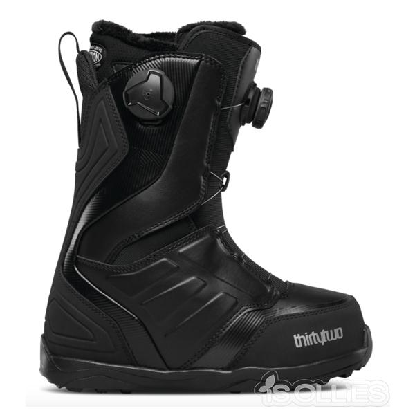 thirtytwo(サーティーツー)(32)LASHED DOUBLE BOA W'S '17BLACK(黒)(snowboard)(スノーボード)(boots)(ブーツ)ボアシステムダブルボア