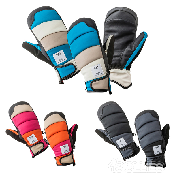 FLUX(フラックス)GLOVE(グローブ)(手袋)PUFF MITTPINK BLUE BLACK(snowboard)(snow)(スノーボード)(スノボ)