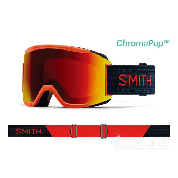 SMITH(スミス)Squad Red Rock レンズ2枚付属Snowboard スノーボードgoggleゴーグル