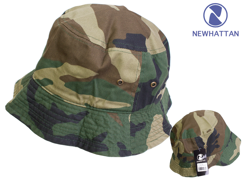 321bb7f36 New Hatten bucket Hat men's & ladies ' stone washed with camouflage pattern  NEWHATTAN STONE WASHED BUCKET HATS
