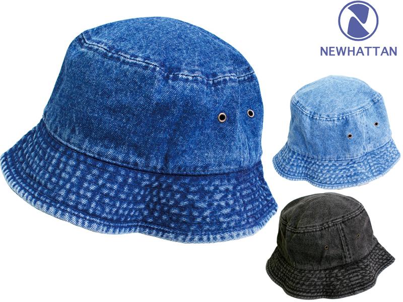 d2e0e17ce New Hatten bucket Hat denim men's & women's jeans 3-deployment NEWHATTAN  Jeans Bucket HATS